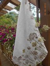 Úžitkový textil - Ľanová utierka, maľovaná, lúčne trávy... - 9585004_