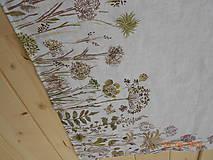 Úžitkový textil - Ľanová utierka, maľovaná, lúčne trávy... - 9585008_
