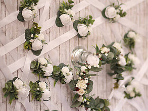 """Náramky - Kvetinový náramok pre družičky """"Eukalyptus"""" - 9584853_"""