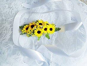 Opasky - kvetinový opasok slnečnice - 9585396_
