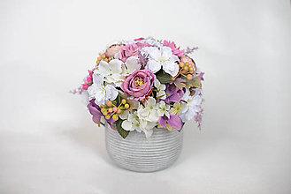 Dekorácie - Kvetinová dekorácia - zľava! - 9587501_