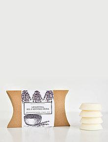 Svietidlá a sviečky - Amber - vonné vosky (Levanduľa, Soľ z Mŕtveho mora) - 9587118_