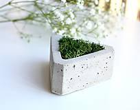 Dekorácie - Betónový mini kvetináč s islandským machom - 9585021_
