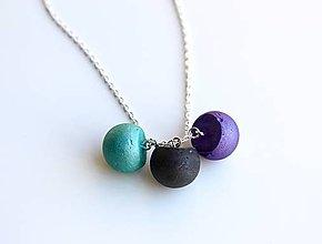Náhrdelníky - Betónové guličky náhrdelník - 9585327_