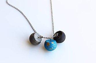 Náhrdelníky - Betónové guličky náhrdelník - 9585386_
