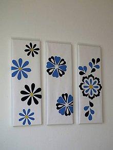 Obrázky - folk trio ornament - textilné obrázky - 9586479_