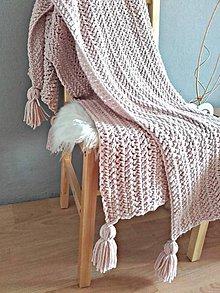 Úžitkový textil - POUDRE TOUCH háčkovaná deka - 9585121_