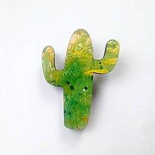 Odznaky/Brošne - Brošňa Kaktus - 9586848_