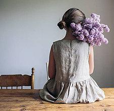 Detské oblečenie - Detské ľanové šaty bez rukávu - rôzne farby - 9585664_