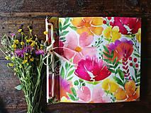 Papiernictvo - Fotoalbum klasický, polyetylénový obal s potlačou peknou kvetinkovou IV. - 9584969_