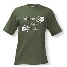 Oblečenie - Ľúbime svojho ocka - pánske tričko pre otca (L) - 9587512_