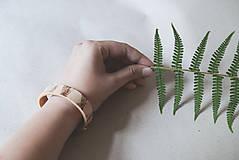 Náramky - Kožený náramok (BOTANIC 19 cm) - 9586736_
