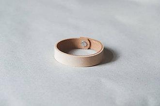 Náramky - Kožený náramok (BASIC 19 cm) - 9586871_