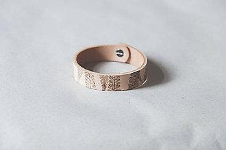 Náramky - Kožený náramok (BOTANIC 19 cm) - 9586873_