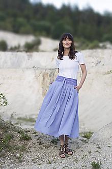 Sukne - Crochet waist skirt - orgovánová - 9586576_