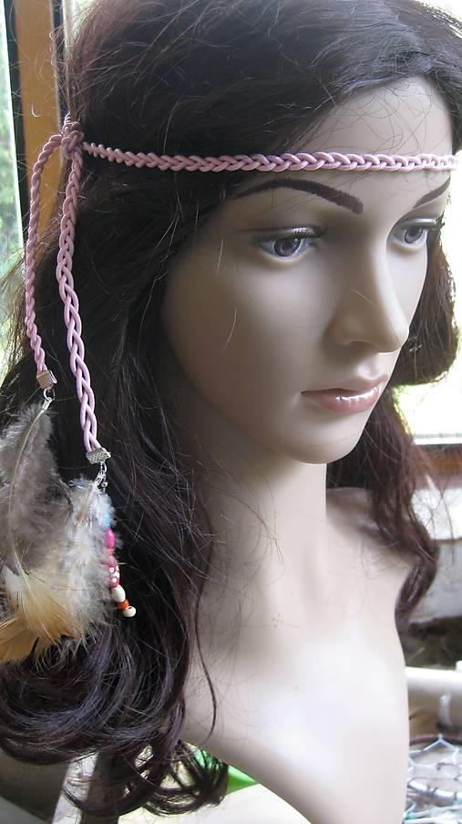 Indiánska čelenka s pierkami č. 2169   TARRA - SAShE.sk - Handmade ... 14fc11a0f5