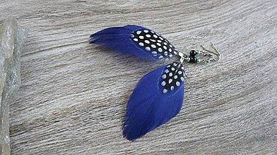 Náušnice - Pierkové náušnice (modro fialové č. 2167) - 9587231_