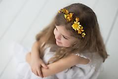 """Ozdoby do vlasov - Detský venček """"slnko s vôňou hrušiek"""" - 9585510_"""