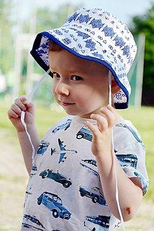 Detské čiapky - Letný širák Čičmany - 9587740_