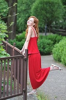 Šaty - Oversized šaty BOHO Summer - červené i farby - 9585201_