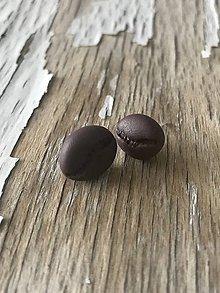 Náušnice - kávové zrnká-náušnice - 9585308_