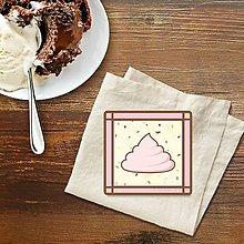 Dekorácie - Stracciatella potlač na koláčik pusinka - 9586209_