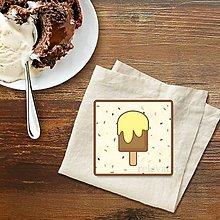 Dekorácie - Stracciatella potlač na koláčik nanuk vanilkový - 9587129_