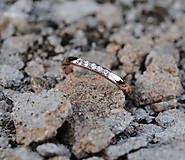 Prstene - Prstienok s diamantami ružové zlato - 9588001_