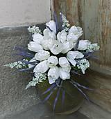 Dekorácie - Kytica z bielych tulipánov... - 9588059_
