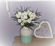 Dekorácie - Kytica z bielych tulipánov... - 9588067_