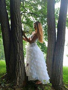 Dekorácie - svadobná kytica: z bielych tulipánov - 9587973_