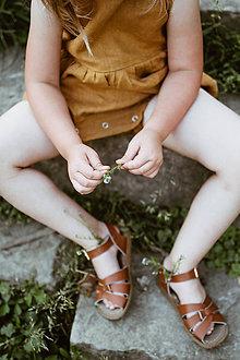 Detské oblečenie - Krátky pudlový overal (Červená) - 9589603_