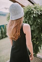 Letný klobúk-100% bavlna-blue