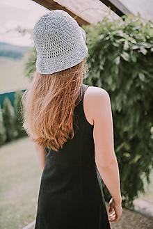 Čiapky - Letný klobúk-100% bavlna-blue (svetlo Modrá) - 9588717_