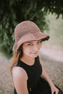 Čiapky - Letný klobúk-100% bavlna-brown (svetlo Modrá) - 9588758_
