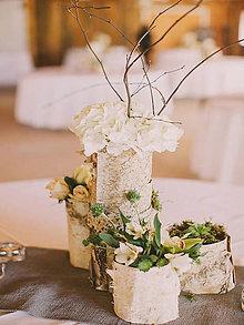 Darčeky pre svadobčanov - Brezová váza na Váš svadobný stôl... - 9588426_