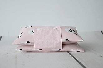 Detské doplnky - Obal na plienky ružové pandy s vinylom - 9590127_