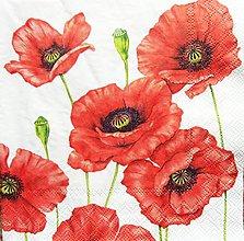 Papier - S1225 - Servítky - mak, maky, poppies, makovica, kvety, lúka - 9588950_