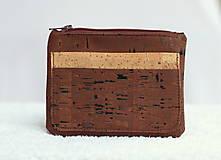 Peňaženky - Korková peňaženka unisex hnedá - 9588345_