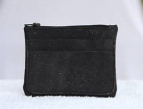 Peňaženky - Korková peňaženka unisex čierna - 9588324_