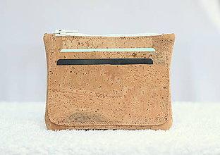 Peňaženky - Korková peňaženka unisex natural - 9588382_
