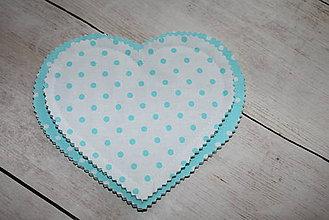 Textil - Mentolové srdiečka :) - 9589091_