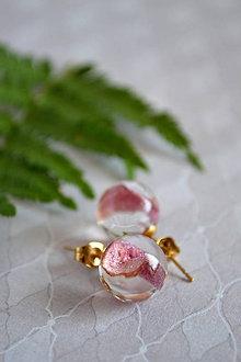 Náušnice - Náušnice Ruža v zlate (2456 A CHO) - 9589497_