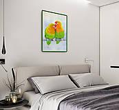 Obrazy - Papagáje - akvarel - 9589783_