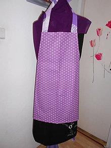 Iné oblečenie - zásterka  - fialová - 9588691_
