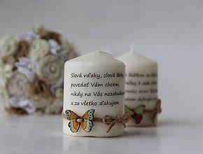 Svietidlá a sviečky - Duo dekoračných sviečok pre pani učiteľky - 9590287_