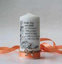 Svietidlá a sviečky - Dekoračná sviečka pre pani učiteľky - 9590332_