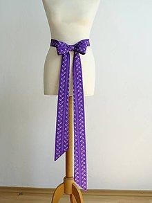 Opasky - fialová mašľa ako svadobný opasok - 9589332_