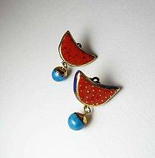 Náušnice - Tana šperky - keramika/zlato - 9590576_