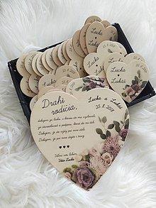 Darčeky pre svadobčanov - Magnetka ako poďakovanie pre rodičov - 9589040_